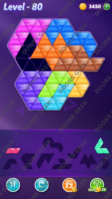 Block! Triangle Puzzle Proficient Level 80 Solution, Cheats, Walkthrough for Android, iPhone, iPad and iPod