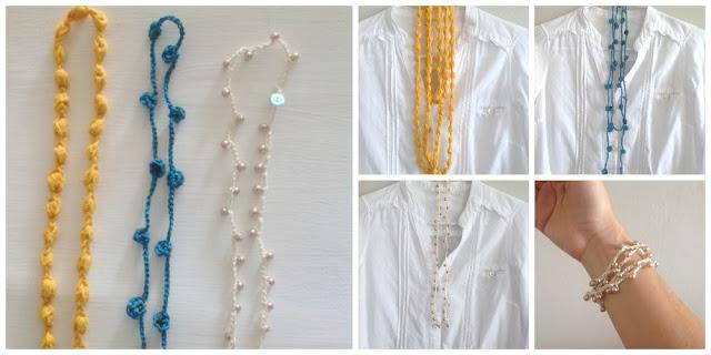 diferentes formas de usar los collares de crochet