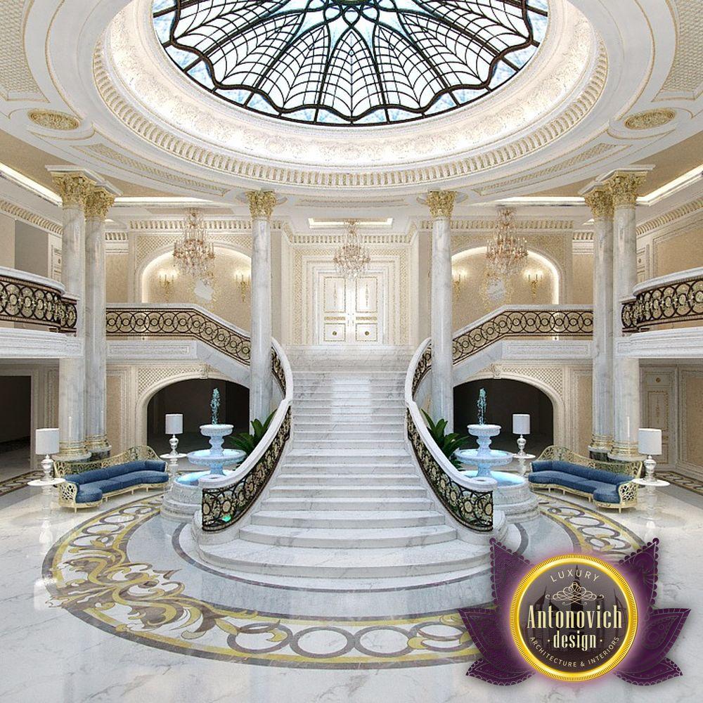 Luxury antonovich design uae luxury entrance interior for Design luxushotel dubai
