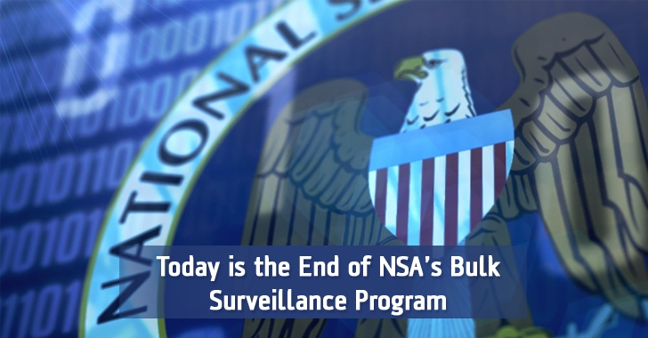 Today NSA has Stopped its Bulk Phone Surveillance Program