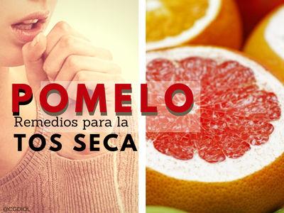 El Remedio con Pomelo para la tos seca es: 4 rebanadas de la fruta, sin cascara y 12 gr de----