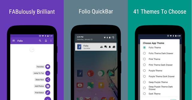 حل مشاكل الفايسبوك في هواتف الأندرويد مع تطبيق Folio