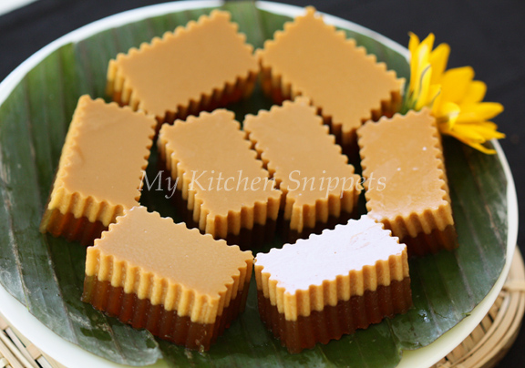 Coconut Jelly Cake Recipe: My Kitchen Snippets: Agar Agar Gula Melaka /Palm Sugar Jelly
