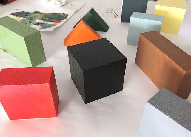 colored wood blocks for painting color studies