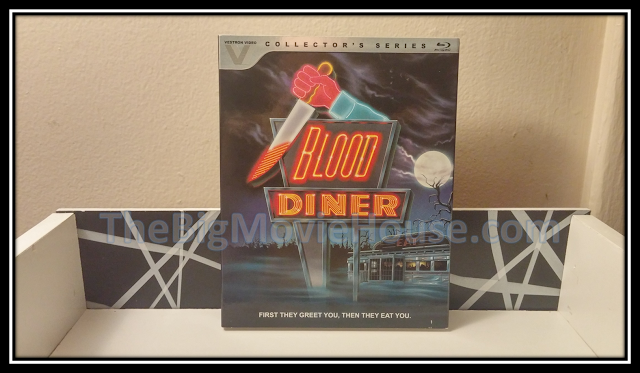 The Blood Diner slip cover from Lionsgate