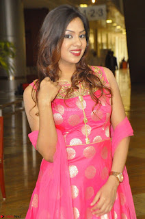 Sindhu Shivarama in Pink Ethnic Anarkali Dress 10.JPG