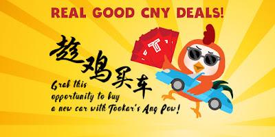 Beli Kereta di Tookar dan Dapatkan RM1000 Angpau Tahun Baru Cina