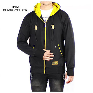 JAKET FLEECE PRIA TPHZ BLACK YELLOW