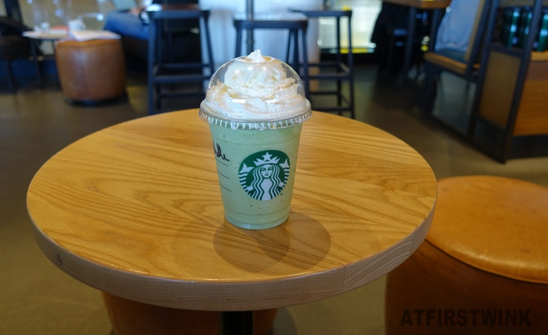 Starbucks Amsterdam Centraal station first matcha green tea frappuccino in the Netherlands