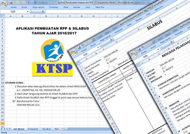 Aplikasi Pembuatan Silabus dan RPP SD Format Microsoft Excel