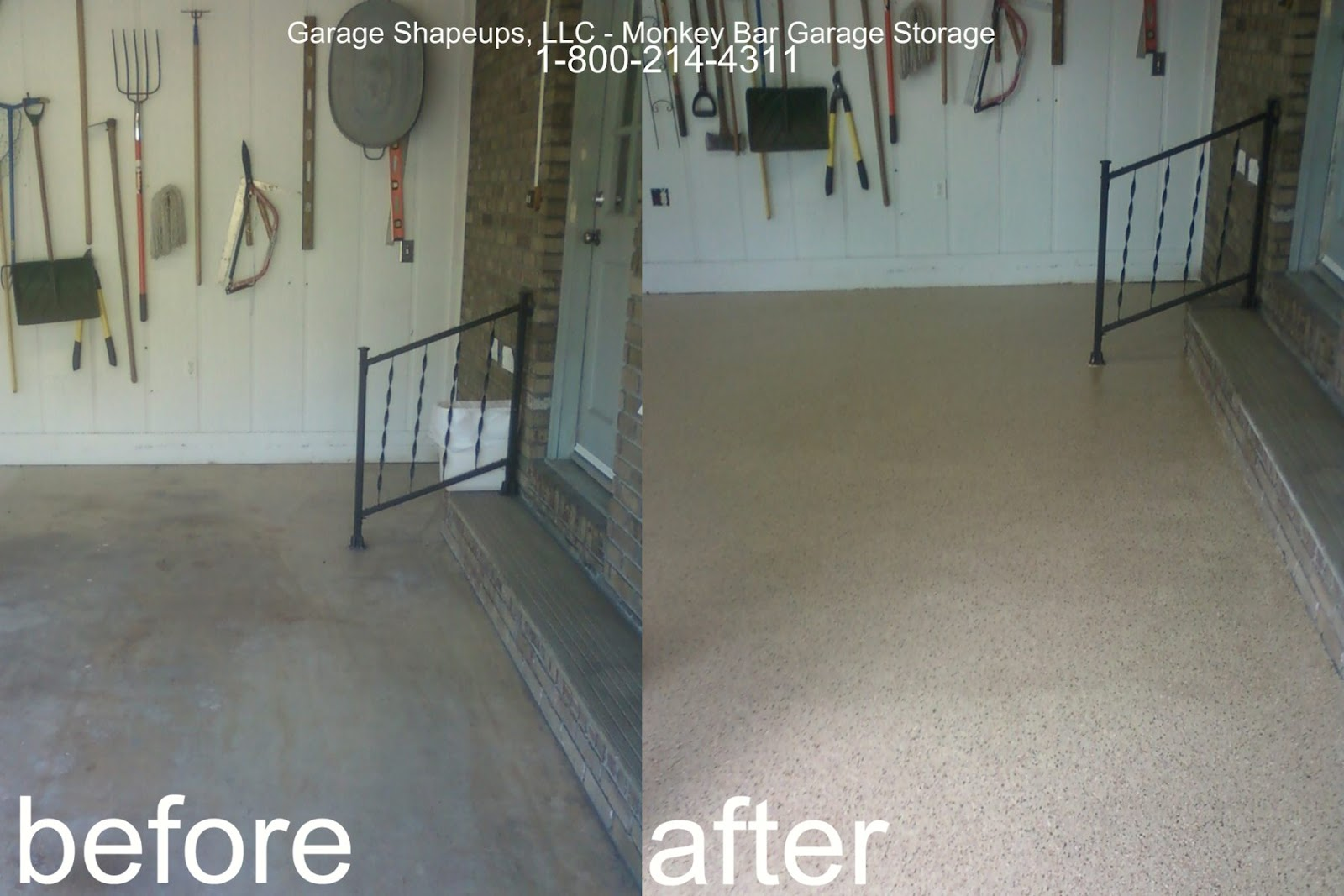 Garage Epoxy Floor Covering Before And Garage Floor Crack Repair Garage  Epoxy Floor Covering
