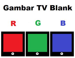 Gambar TV Blank Merah, Hijau, Biru dan Bergaris
