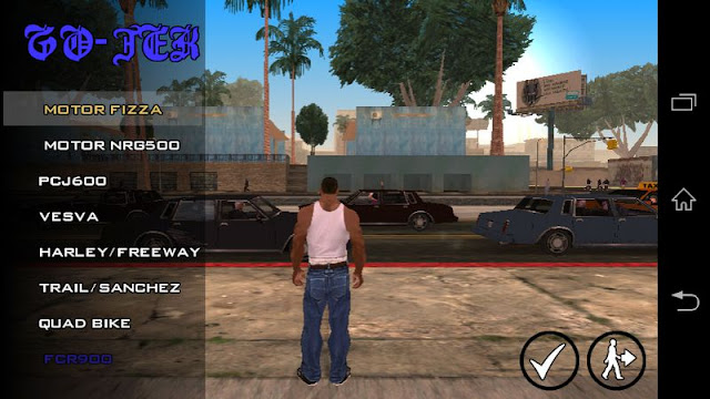 Go jek Drive to Map Target cleo Mod GTA SA Android