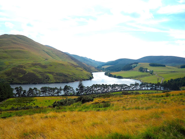 Glencorse Reservoir view walk in the Pentland Hills, Edinburgh, Scotland