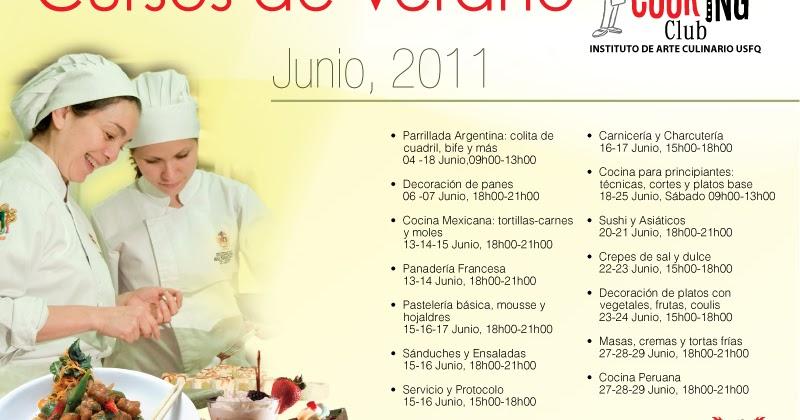 Cooking Club USFQ Cursos de Verano en Instituto de Arte Culinario de la USFQ  Noticias USFQ