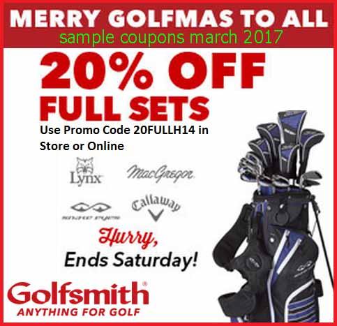Golfsmith coupons 2018