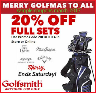 Golfsmith coupons for march 2017