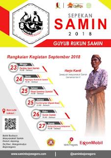 Jadwal Agenda Sepekan SAMIN 2018