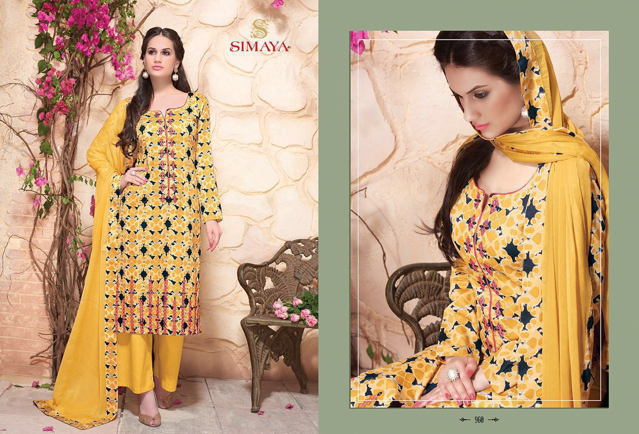 MOROIR-New seasonal Latest Fashion Cotton  Dress Material