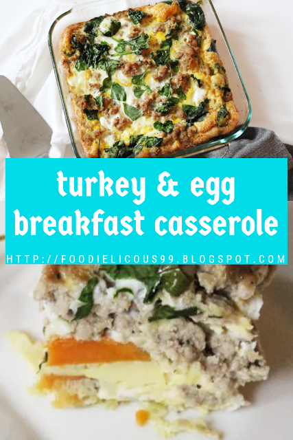 Gluten Free turkey & egg breakfast casserole