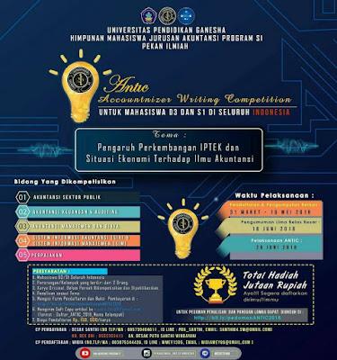 Lomba Menulis ANTIC Nasional 2018 di UNDIKSHA