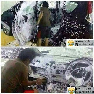 cuci mobil bagian dalam