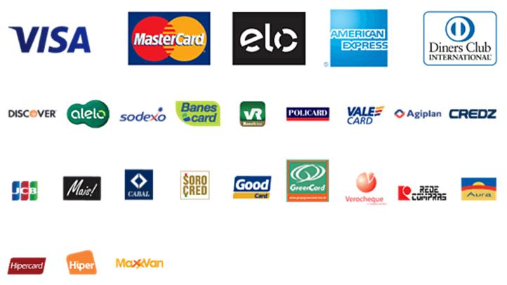 7682d8065 Para compras pelos cartões de créditos Visa e Master Card você poderá  dividir em até 6 x sem juros. Para as demais