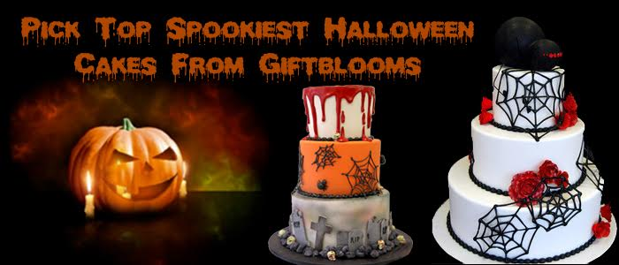 Pick Top Spookiest Halloween Cakes From Giftblooms
