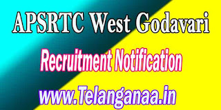 APSRTC West Godavari Driver Recruitment Notification 2016