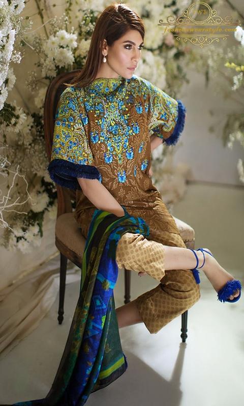 Sana Safinaz Extravagant Summer Dresses 2017 www.fashionwearstyle.com