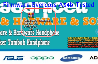 Firmware Evercoss A54b Tested