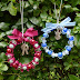 How to Make A Bead and Ribbon Wreath Christmas Ornament