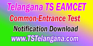 Telangana TS EAMCET TSEAMCET 2017 Notification Download