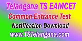 Telangana TS EAMCET TSEAMCET 2017 Notification Download