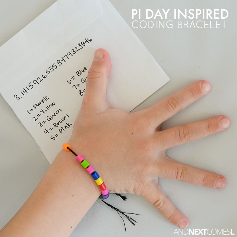 Pi Day Craft Idea For Kids Making Coding Bracelets From And Next Comes L