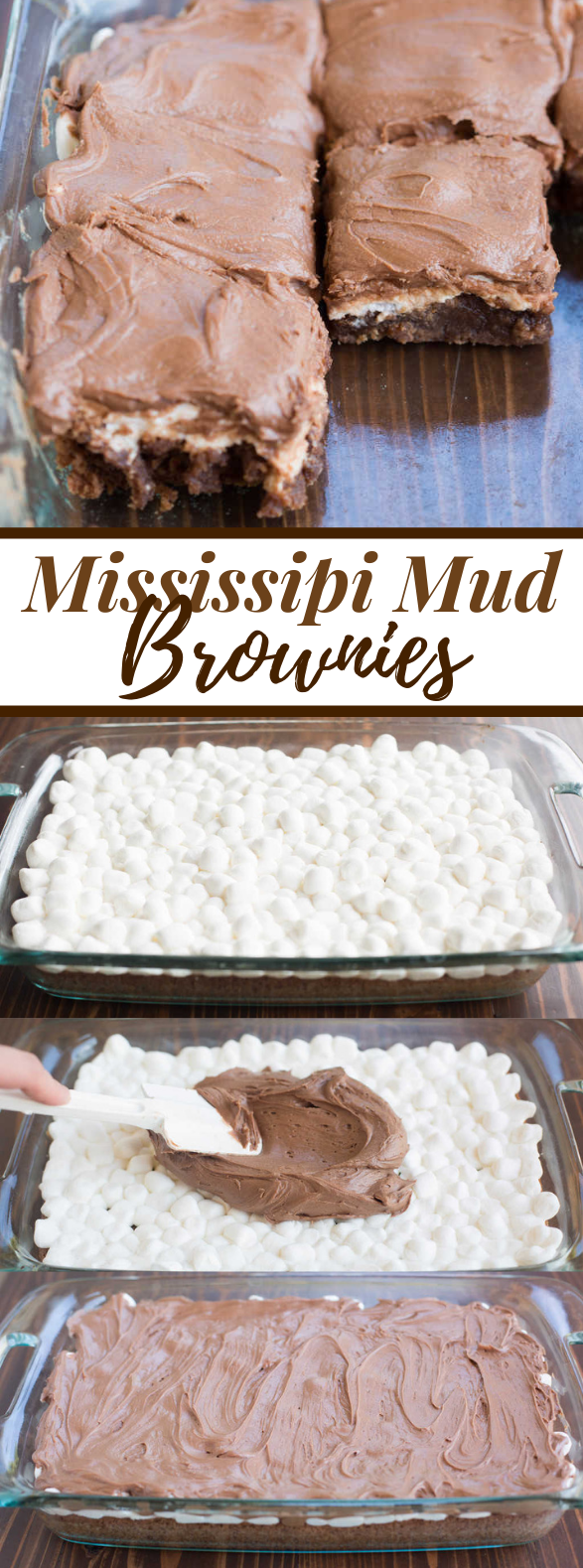 MISSISSIPPI MUD BROWNIES #bars #chocolate