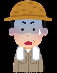 農家の男性のイラスト(焦った顔)