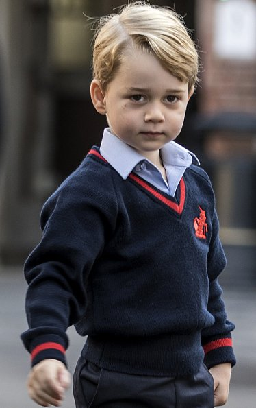Prince George Arrives For His First Day At Thomas S School