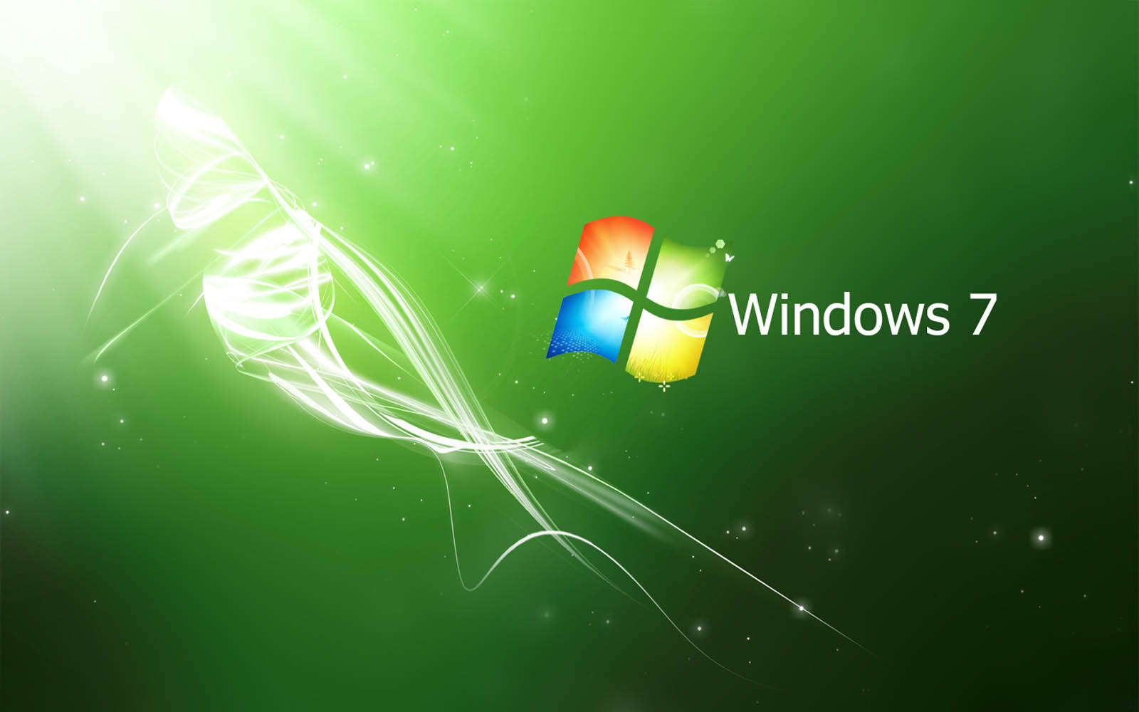 Wallpapers: Green Windows 7 Wallpapers