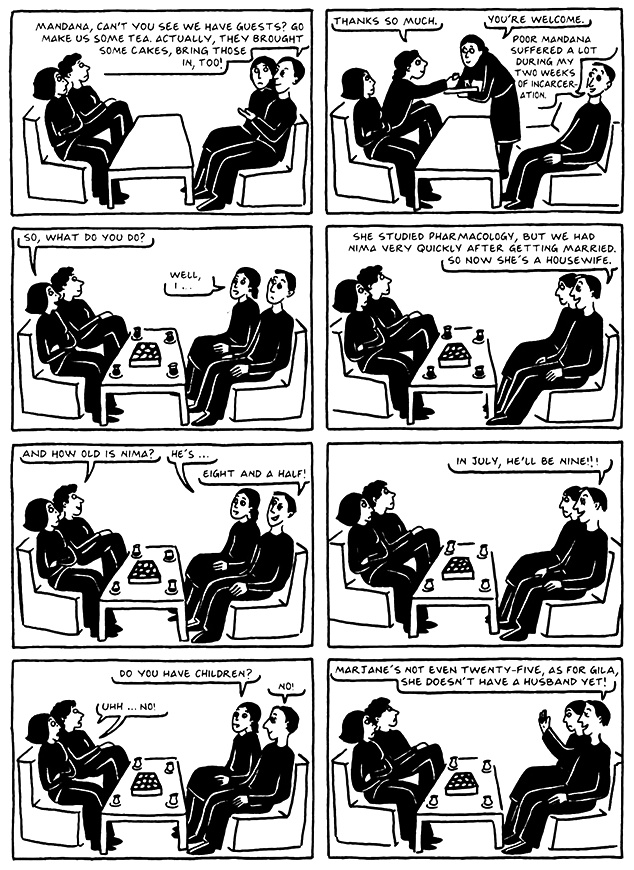 Read Chapter 19 - The End, page 182, from Marjane Satrapi's Persepolis 2 - The Story of a Return