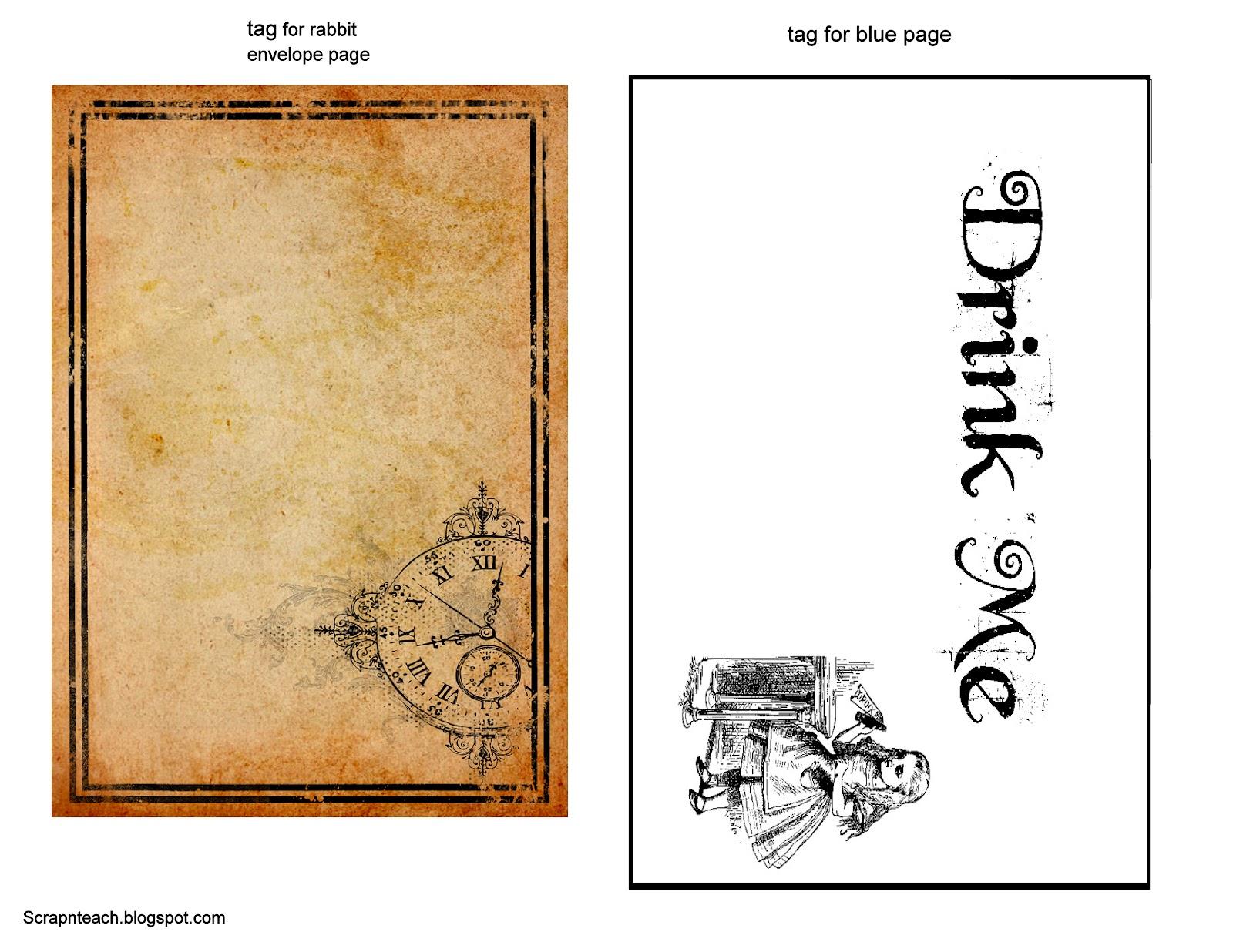 Scrap N Teach: Alice in Wonderland Mini (free printables)