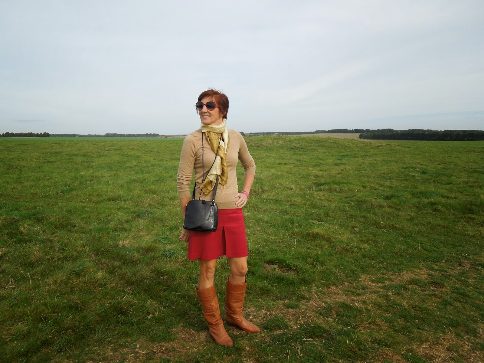 Mary walking to Stonehenge