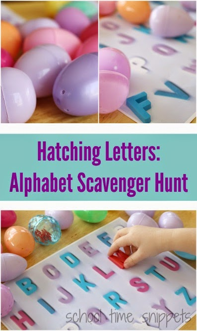 Letter Matching Activity using easter eggs