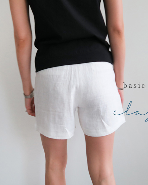 Black Linen Shorts Womens