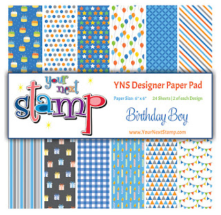 Designer Paper Pad Birthday Boy