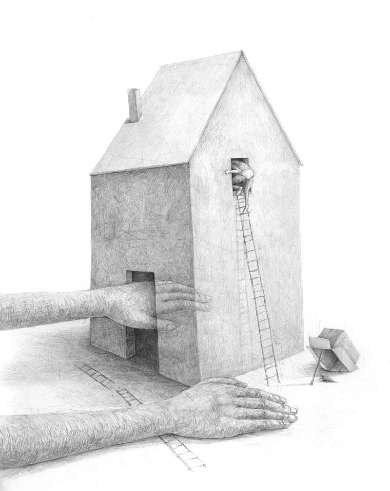 Stefan-Zsaitsits-09 Houses: Drawings by Stefan Zsaitsits Design
