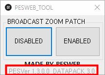 PES 2019 Broadcast Camera ZOOM Disabler 1.3.0.0 / DATAPACK 3.00