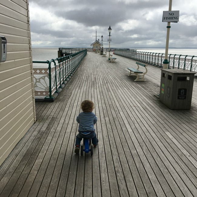 Penarth-pier-toddler-on bike