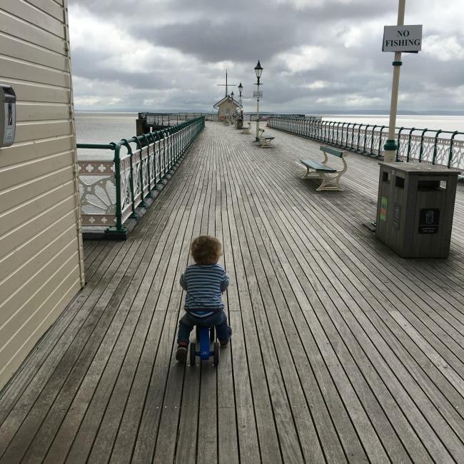 Penarth-pier-toddler-on bike