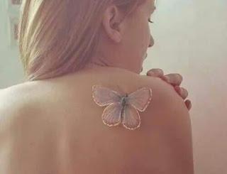 tatuajes de tinta blanca, tatuajes ultravioleta, tatuajes blacklight, tatuajes de mujeres